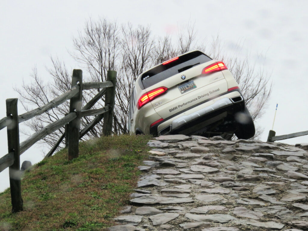 Off-road adventure course at BMW Driving School Greer.