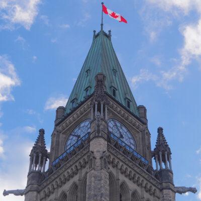 Peace Tower in Calgary, Alberta, Canada.