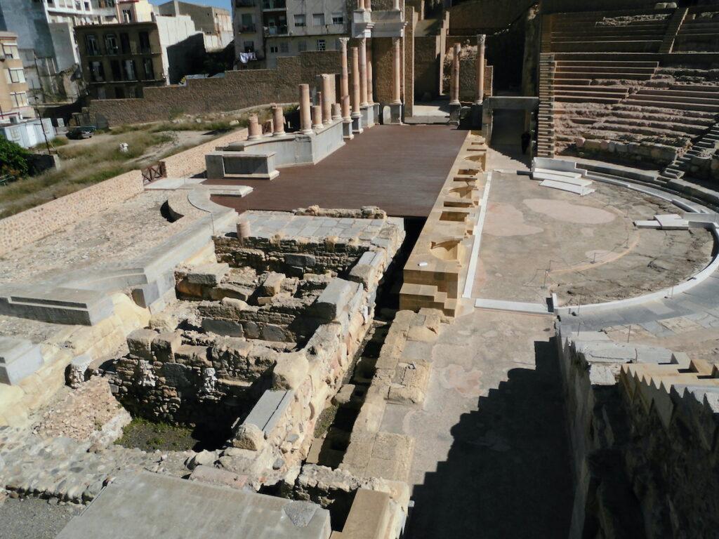 Roman amphitheater in Cartagena, Spain.