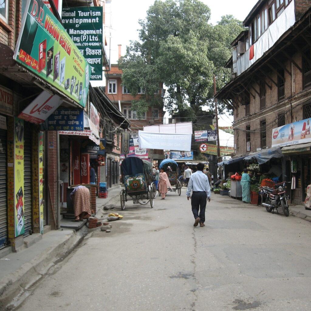 Street in Thamel; Kathmandu, Nepal