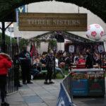 Football fans in Edinburgh, Scotland, in June 2021.
