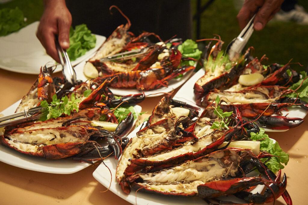 lobster plates at the Manjimup Cherry Harmony Festival.
