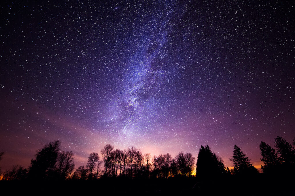 The milky way galaxy from Cherry Springs State Park in Pennsylvania.