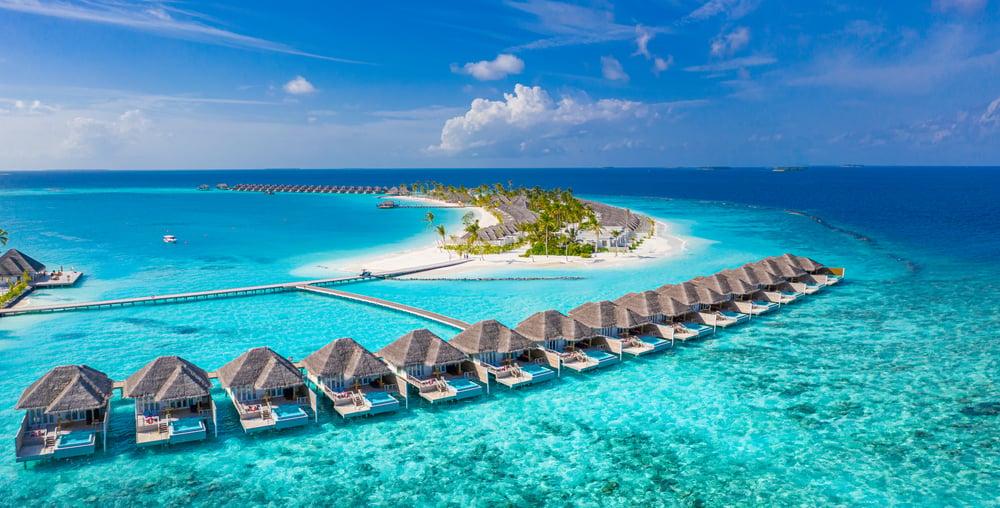 Maldives resort water villas