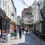 Pedestrians in Canterbury, England, July 2021
