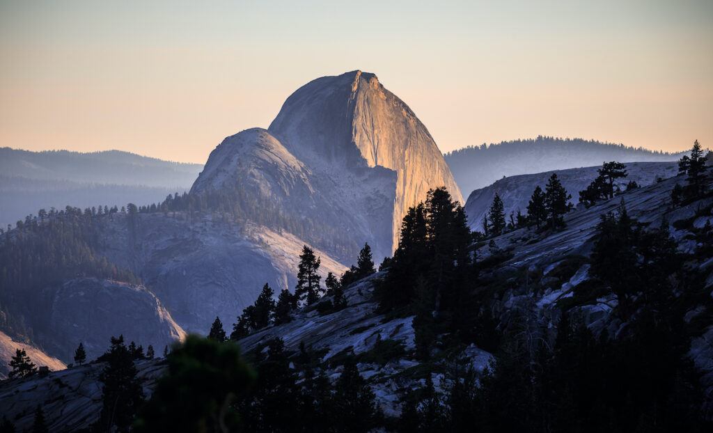 Sunset on Olmsted Point, Yosemite National Park, California.