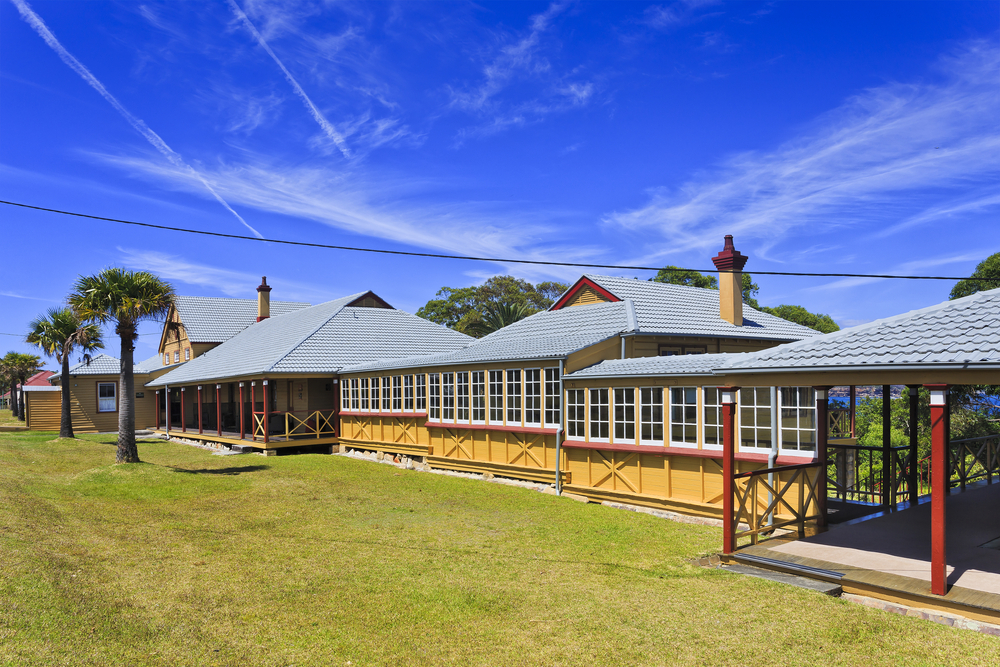 Street of 1st class cottages in Quarantine station, Sydney's North head.