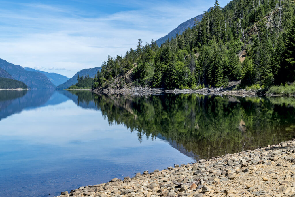 Buttle Lake in Strathcona Provincial Park.