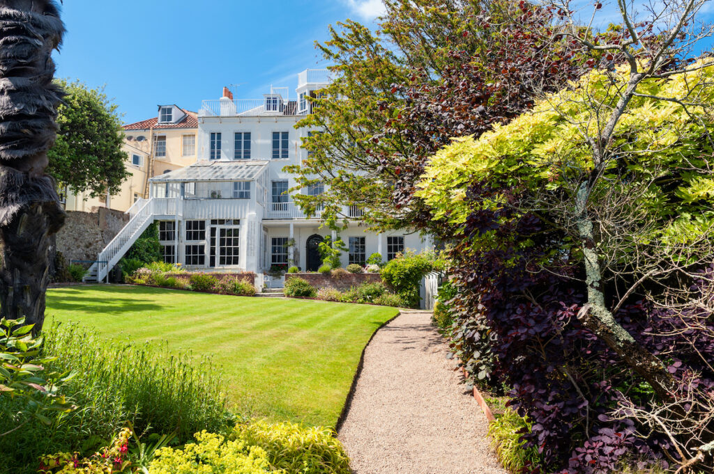 Hauteville House in Saint Peter Port, Guernsey, Channel Islands. Famous french poet Victor Hugo used to live here in the 19th Century.