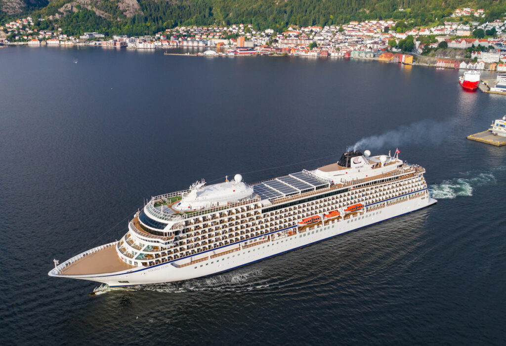 Viking Star on the water in Norway.