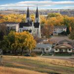 City of Medicine Hat, Alberta, Canada in Autumn