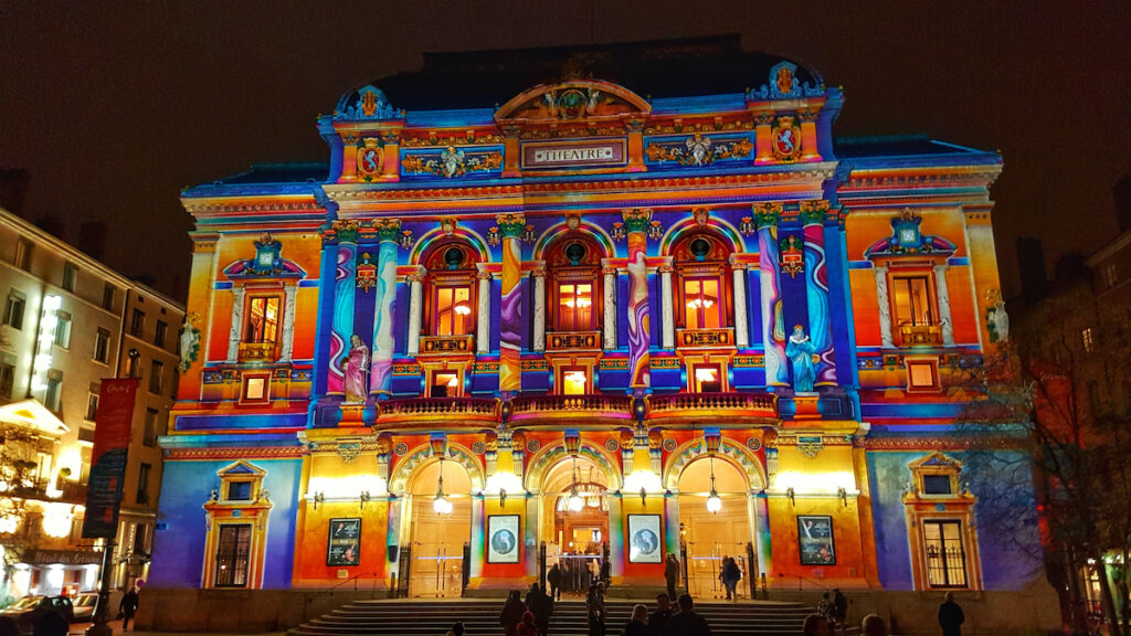 Celestins theatre, festival of lights, Cyon, France