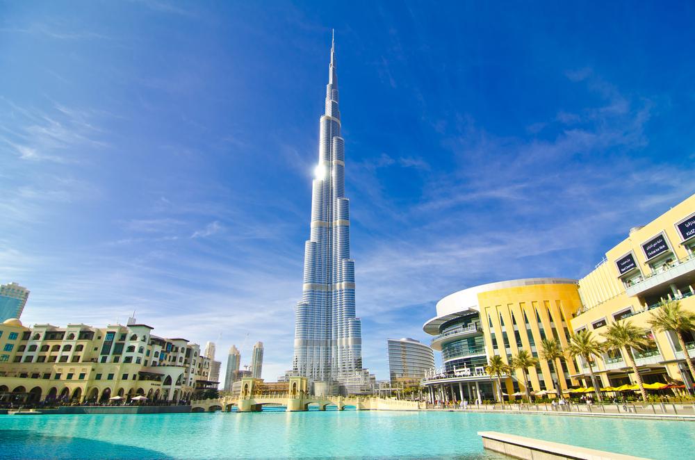 Burj Khalifa building view in Dubai