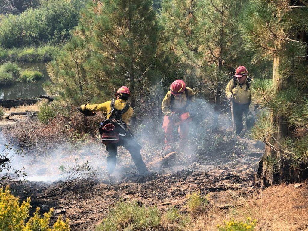 Firefighters are in the process of mopping up along the fire perimeter in the Southwest Area of the park