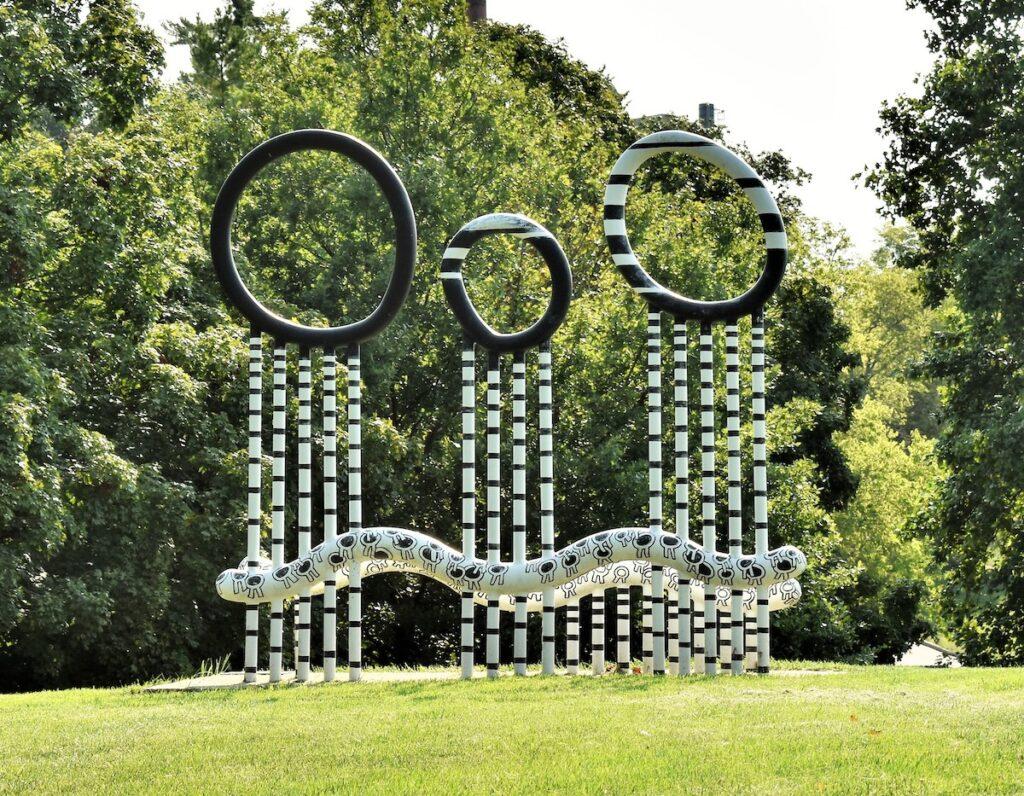 Three Storms Sculpture at Miami University Sculpture Park, Oxford, OH