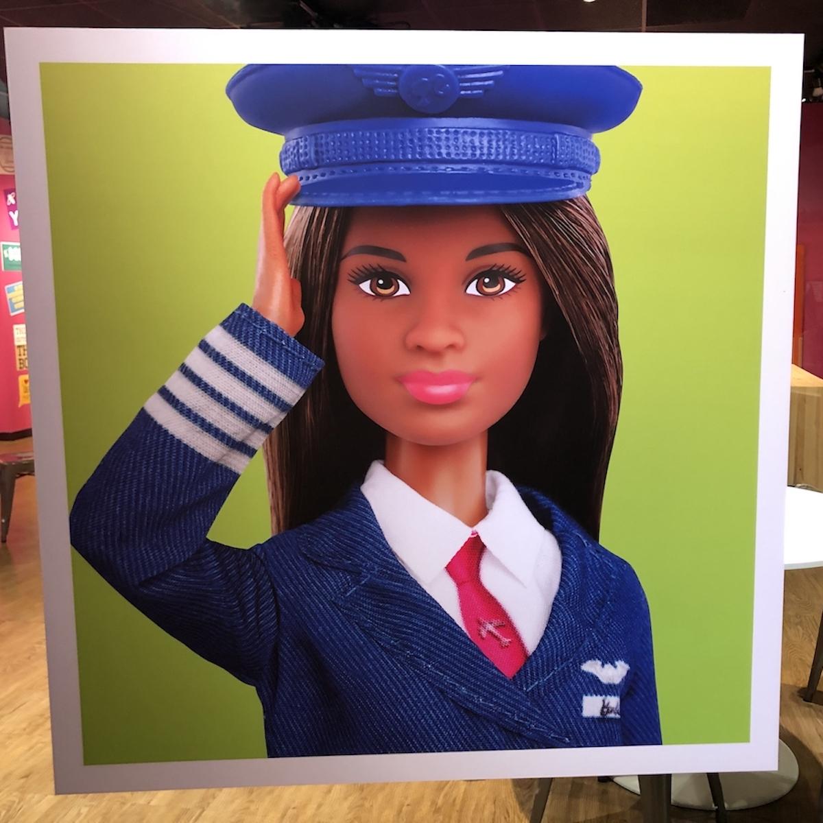 Barbie as a pilot, poster.