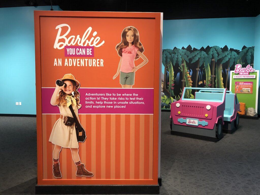 Barbie the Adventurer sign.
