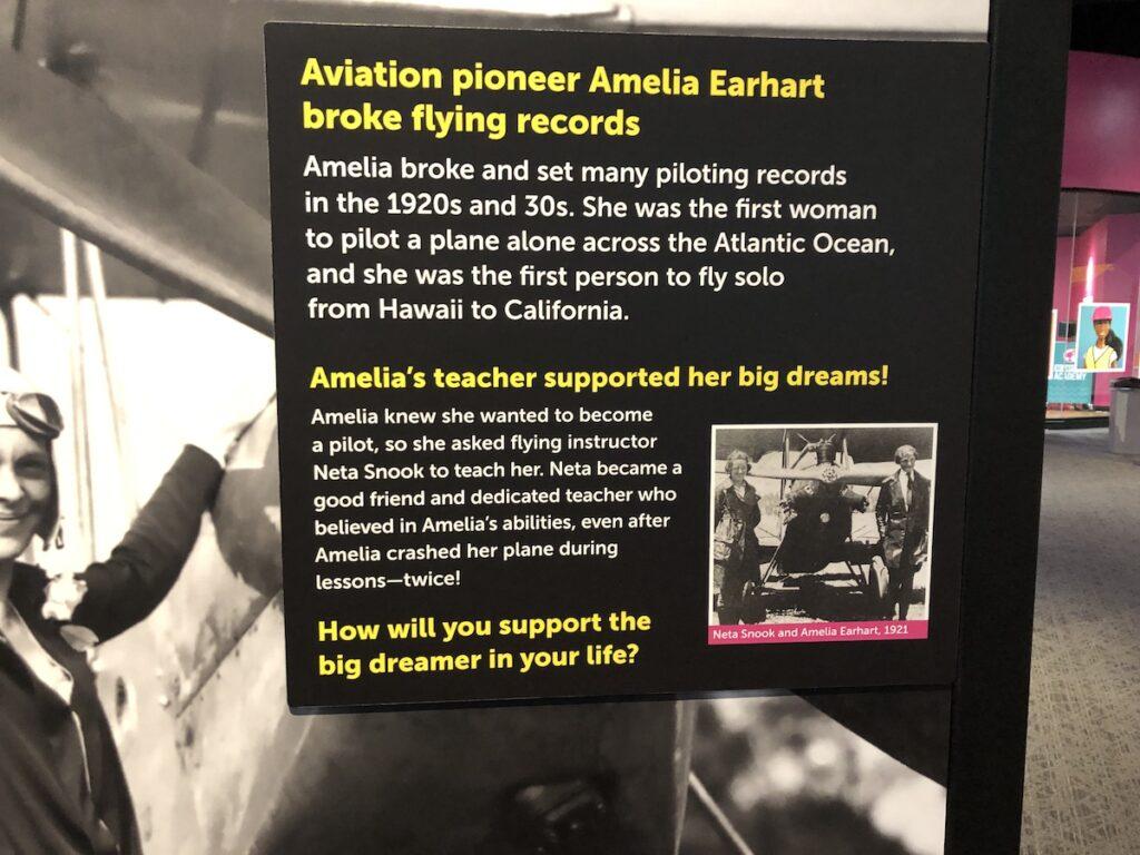 Amelia information sign.