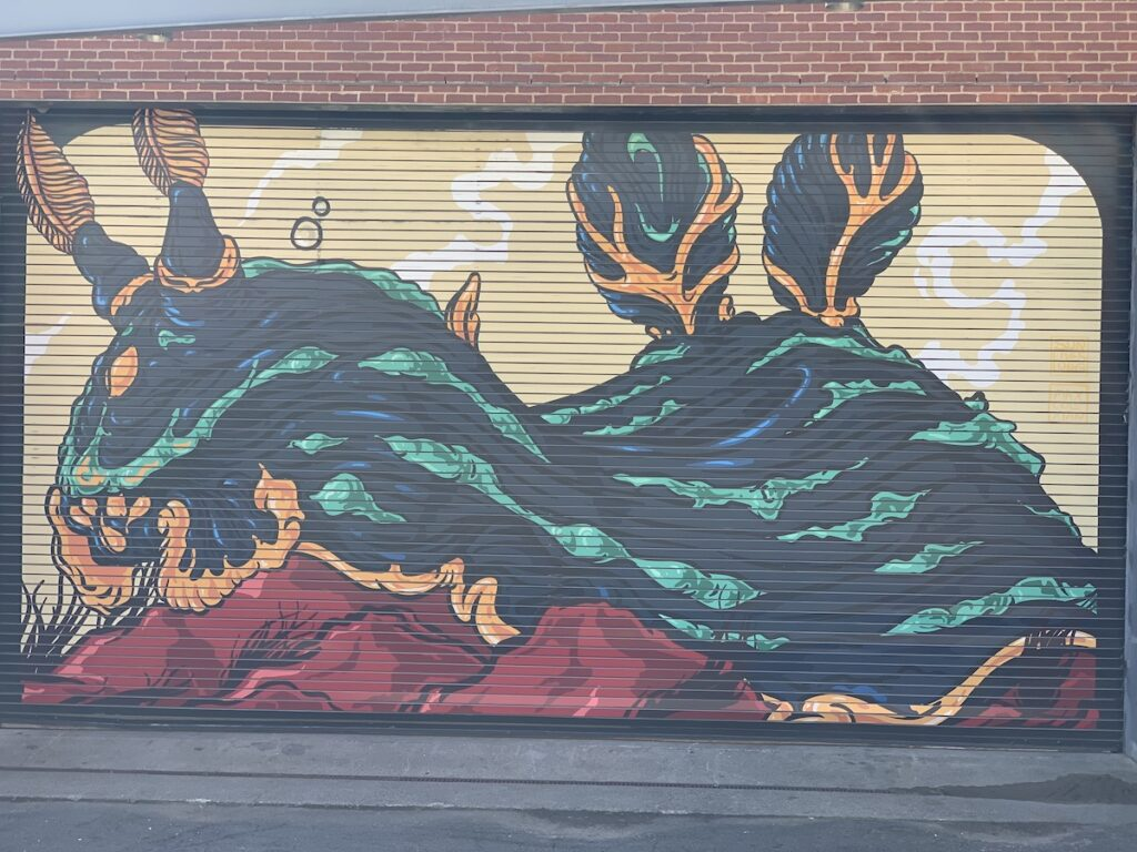 Mural at the Maritime Aquarium in Norwalk.