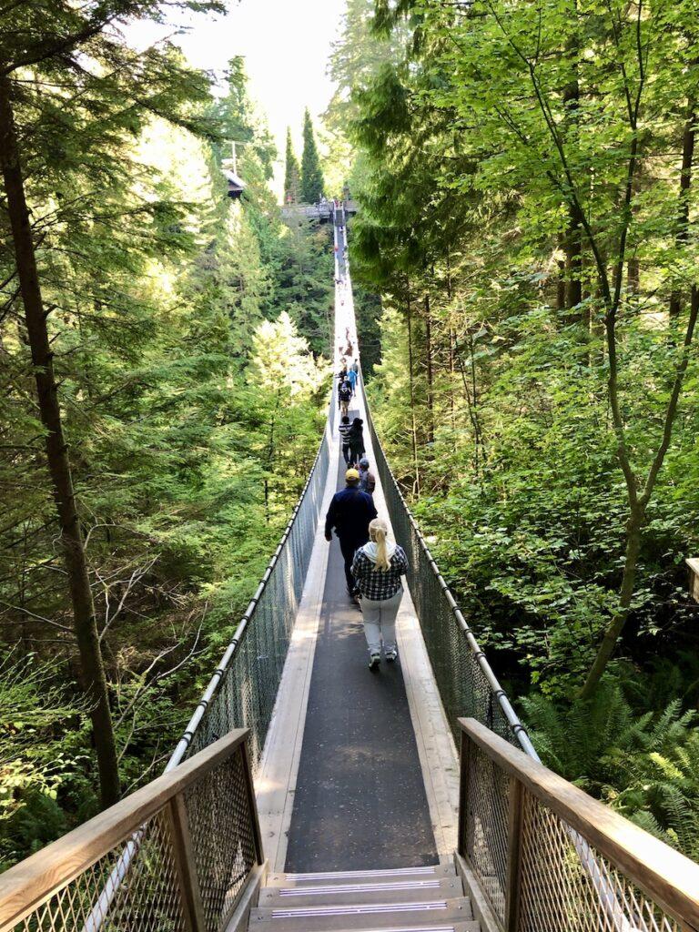 The Capilano Suspension Bridge in North Vancouver