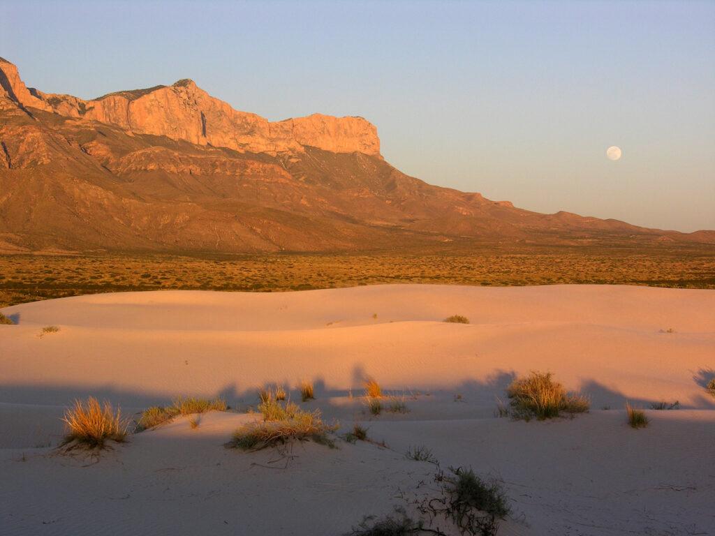 Salt Basin Dunes at sunset