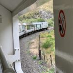View from the train through the New Zealand countryside