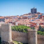 The walls and skyline of Avila, Spain