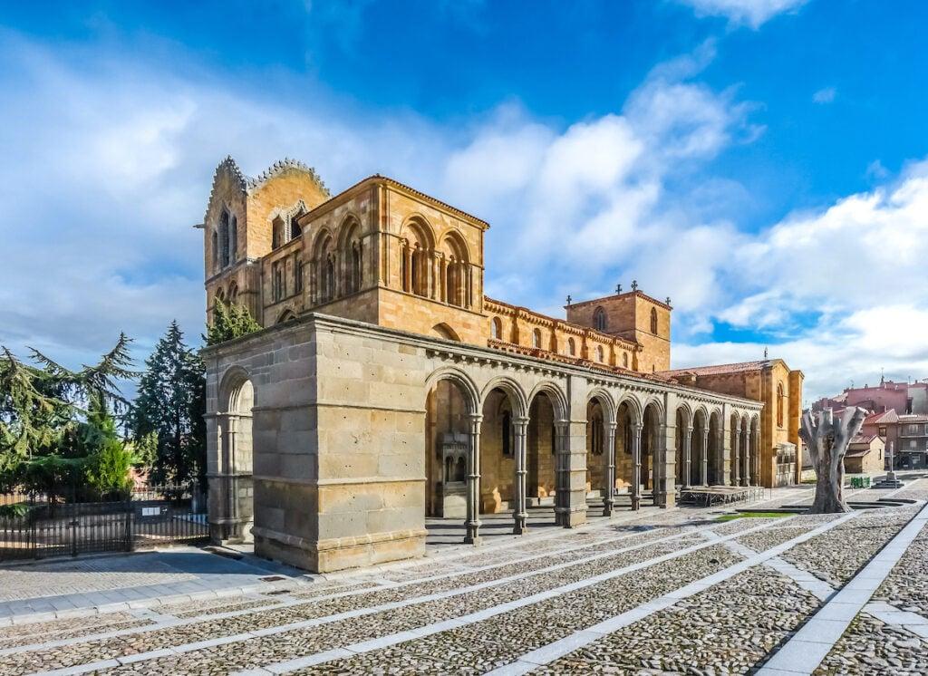 Iglesia de San Vicente en Ávila, España