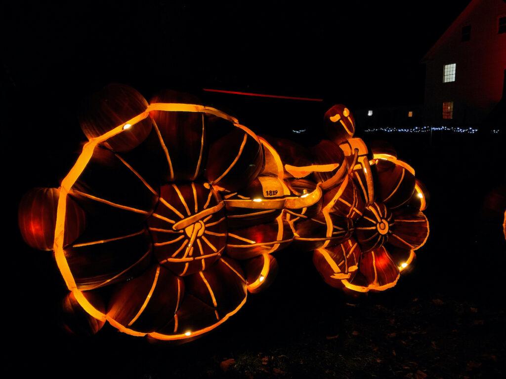 Bike sculpture at Pumpkinferno