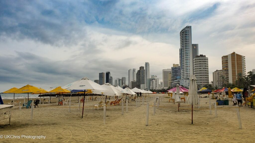 A beach in Cartagena, Colombia