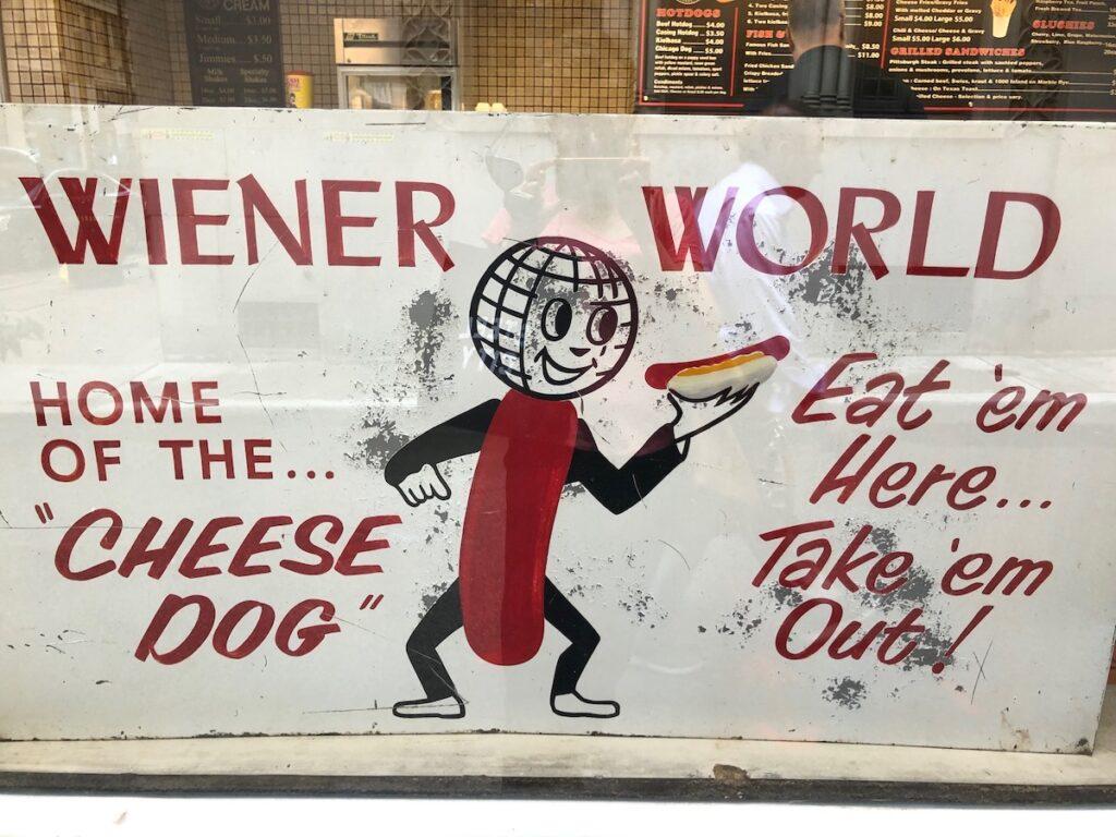 Wiener World sign, Pittsburgh, Pennsylvania.