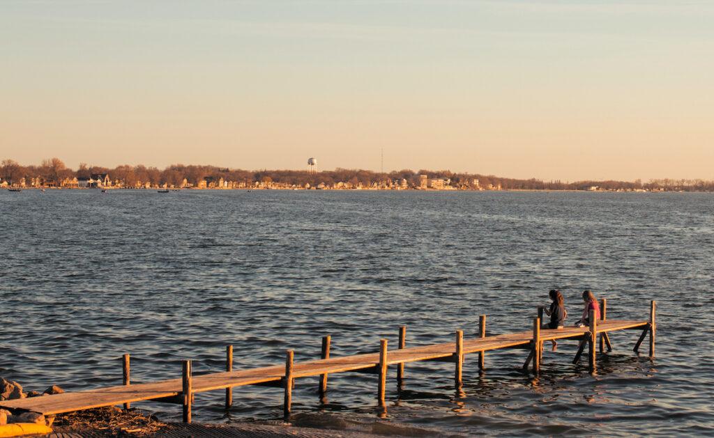 A dock on Clear Lake in Iowa