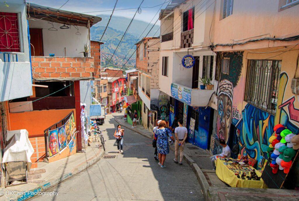 Comuna 13 district of Medellin, Colombia
