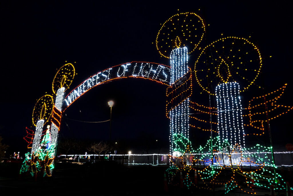 Lights and admission to Winterfest in Ocean City, Maryland