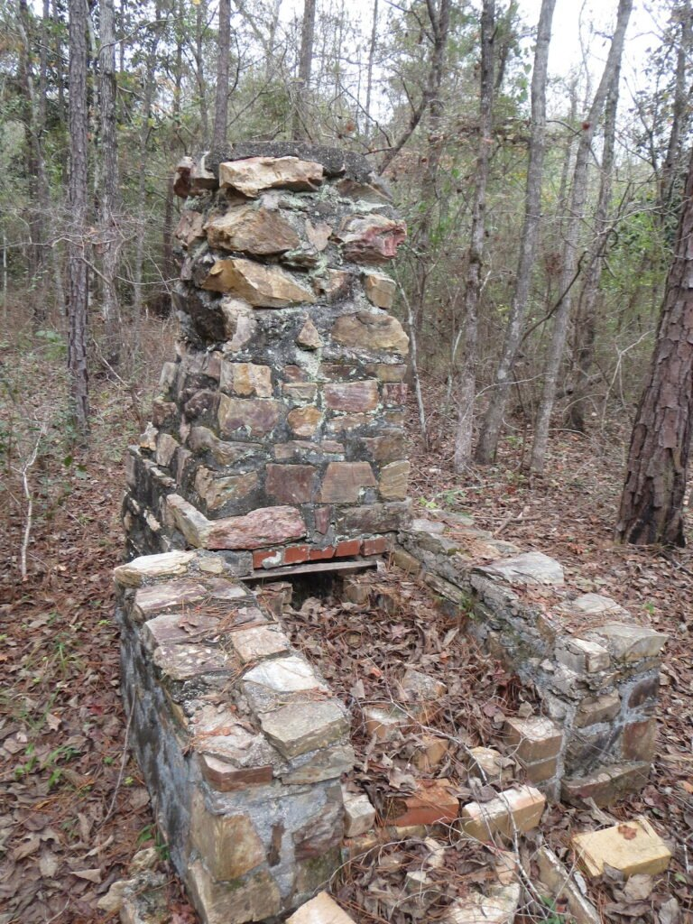 Could the remains of this old house at the Tuskegee National Forest be haunted?