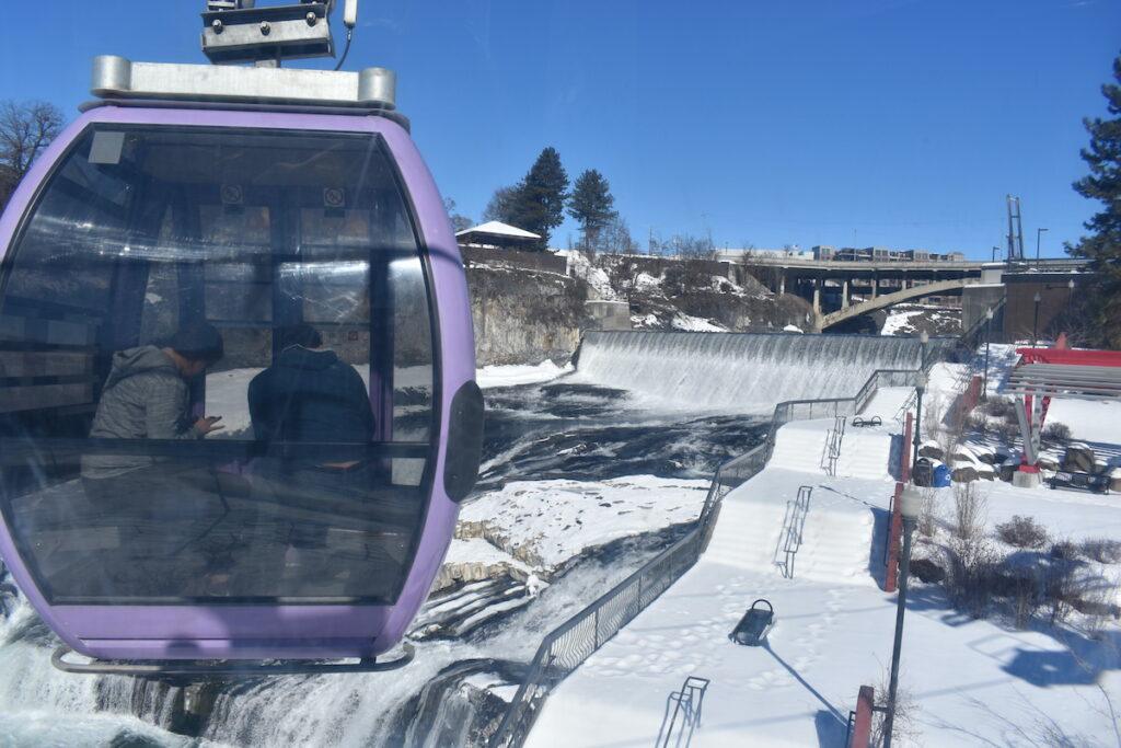 Numerica Skyride on Spokane Falls, Washington.
