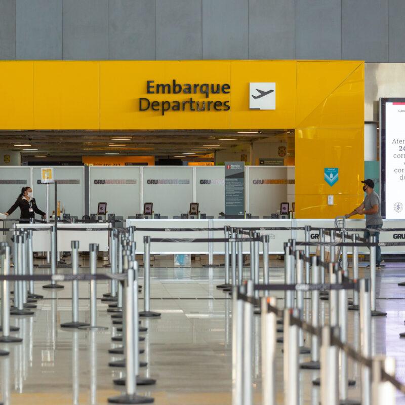 Departures desk; Sao Paulo, Brazil