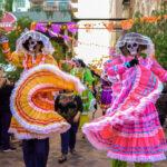 San Antonio Día de Los Muertos performers. San Antonio is one of the Texas towns with Día de Los Muertos celebrations.