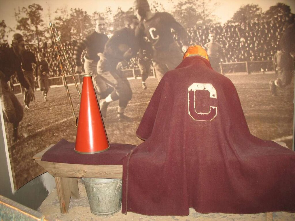 Jim Thorpe exhibit at the Pro Football Hall of Fame in Canton, Ohio.