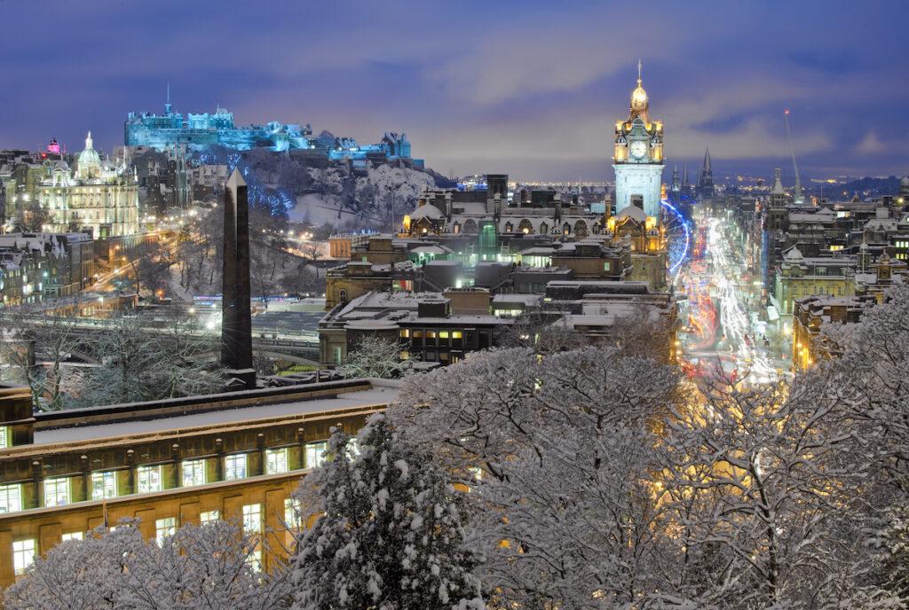 A view from Calton Hill in Edinburgh, Scotland