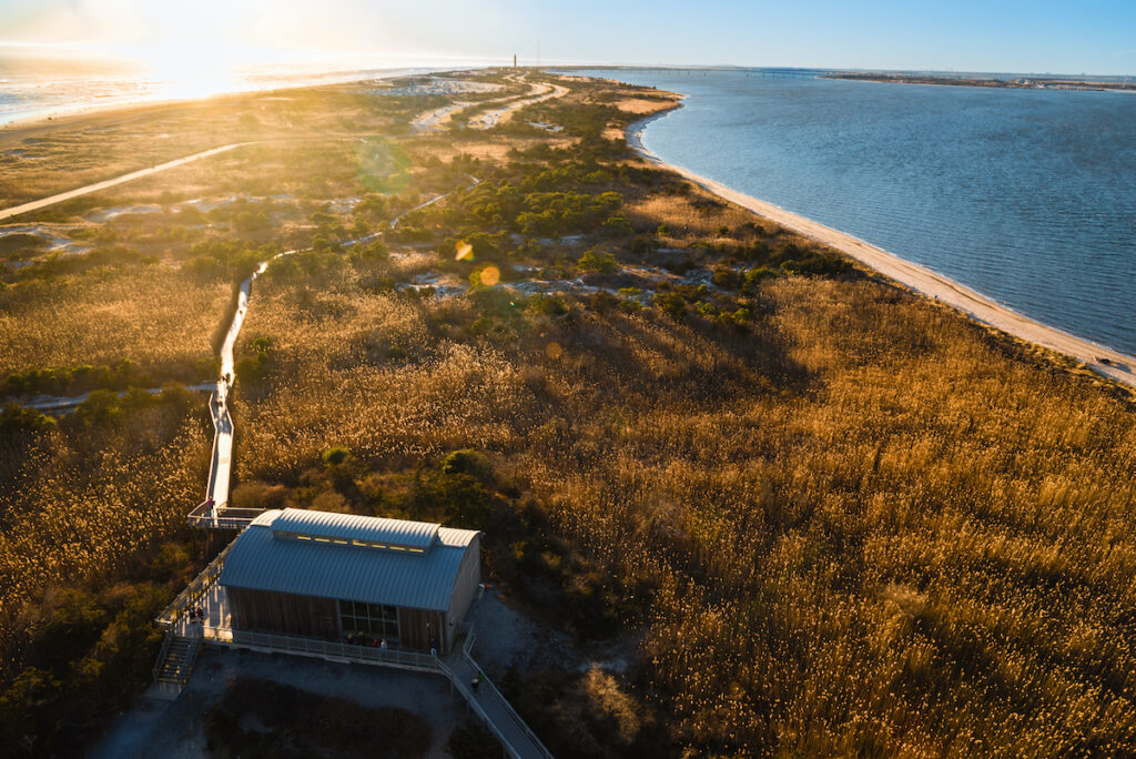 Fire Island Lighthouse on Fire Island in New York