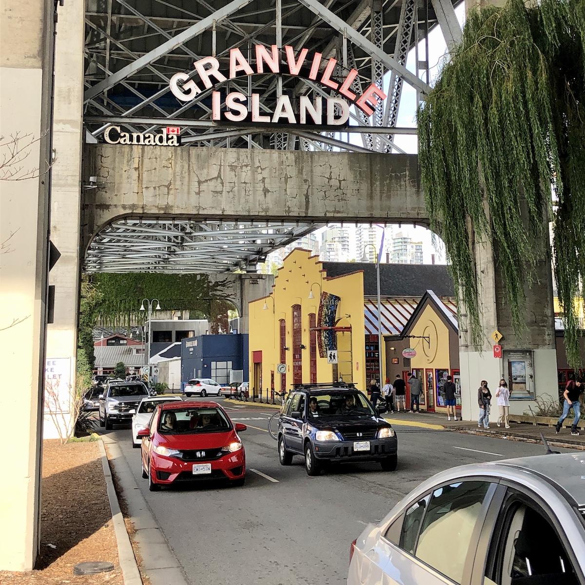 Entrance to the Granville Island Public Market
