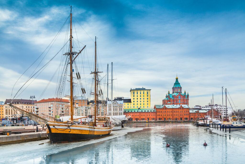A harbor in Helsinki, Finland