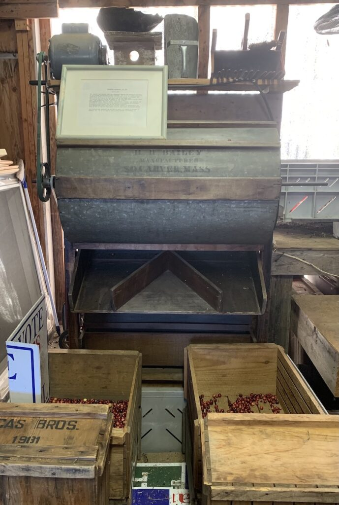 Old cranberry sorter from Cranberry farm.