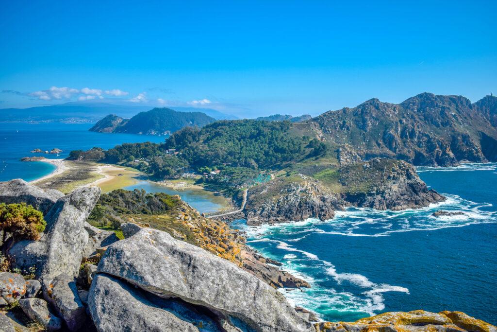 The coast of Islas Cies in Spain