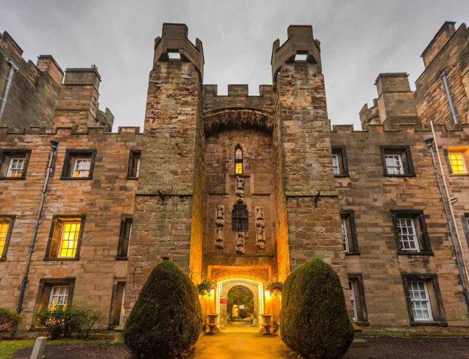 Lumley Castle exterior, Durham, England.