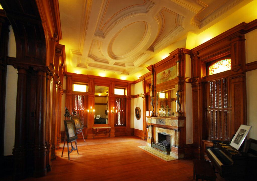 Interior of Bishop's Palace in Galveston, Texas