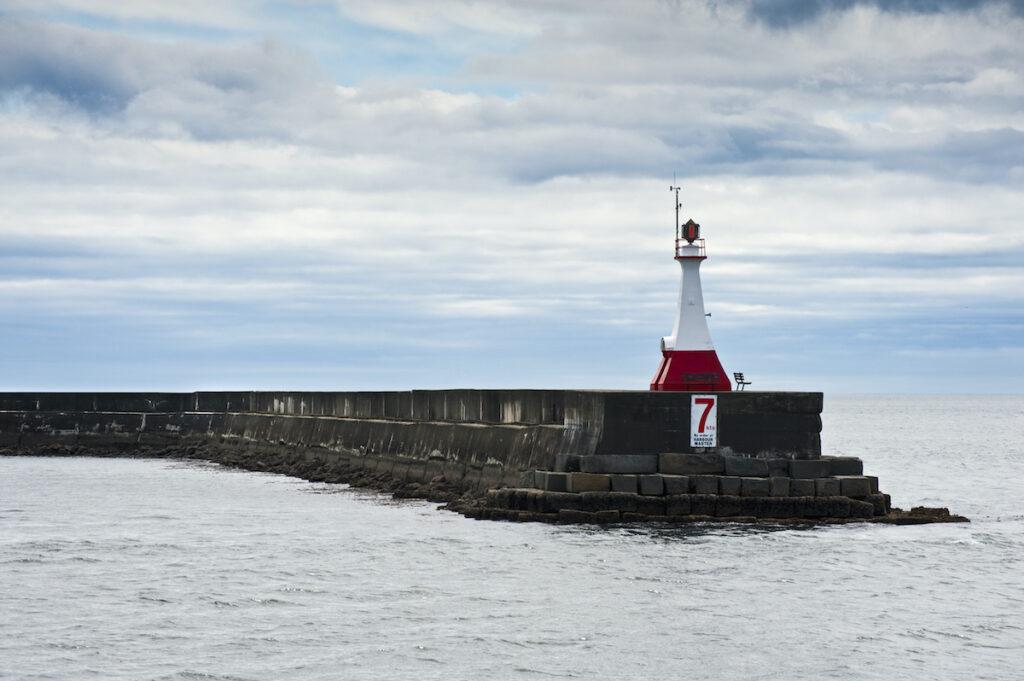 Ogden Breakwater Lighthouse in Victoria
