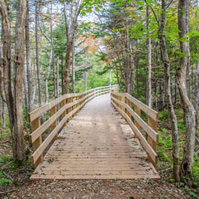 Hiking trail on Prince Edward Island, Canada