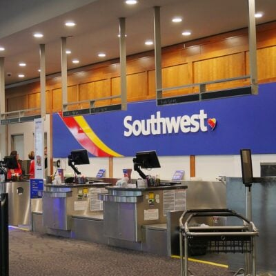 Southwest Airlines service counter